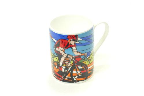 Bone China Mug Cyclist