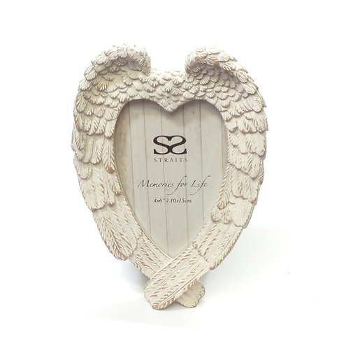 "Angel Wings Photo Frame 4""x6"""