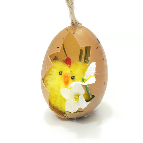 Cute Chick in Half Egg Decoration