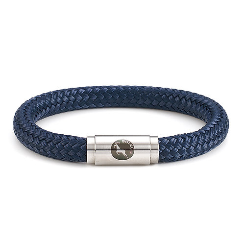 Rope Bracelet - Navy - with Magnetic Catch