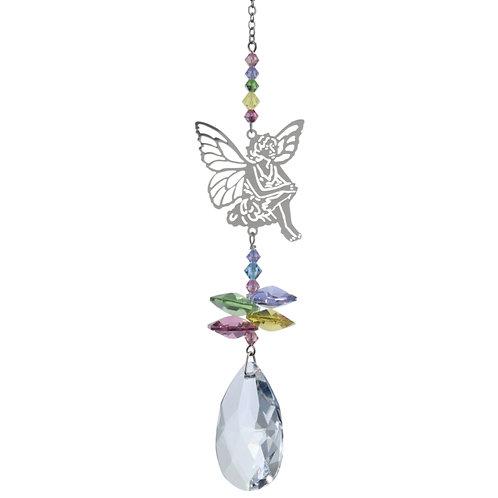 Crystal Fantasies Sitting Fairy - Confetti