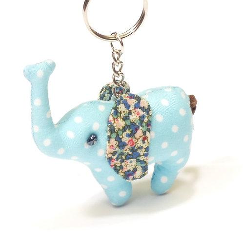 Vintage Mini Elephant Keyring