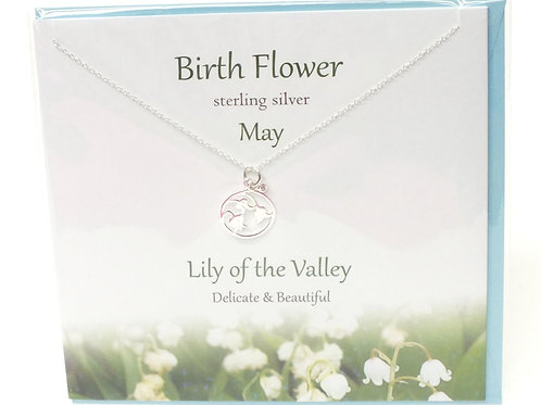Birthday Flower Pendants