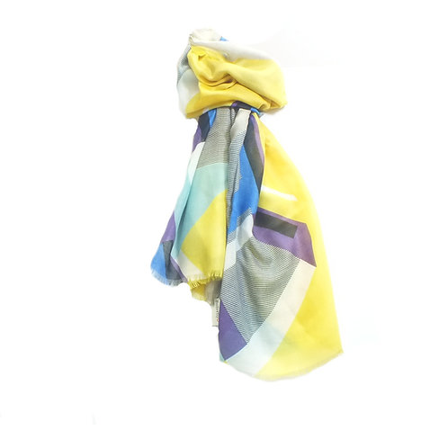 Scarf Bright Geo Print in Yellow