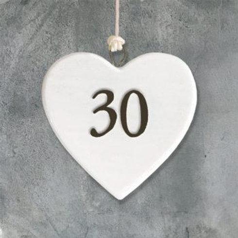Porcelain heart-30