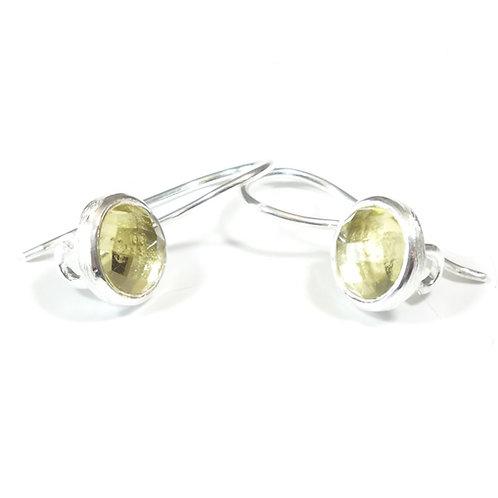 Semi Precious Stone Drop Earrings SS -Nov-Citrine/Lemon Quartz