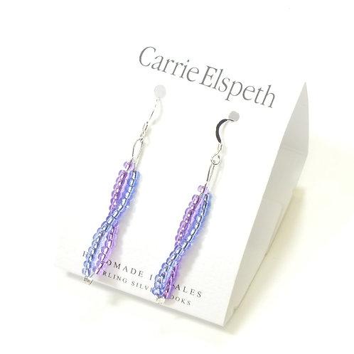 Purple Seed Twists Earrings