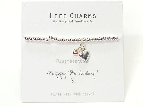 Happy Birthday Hearts Bracelet