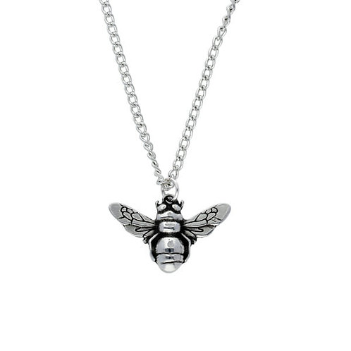 """Small Bee Pendant on 16"""" Curb Chain"""