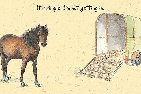 Card - Horse Box