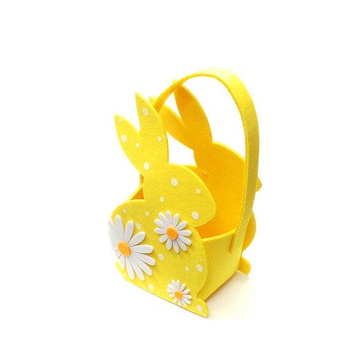Yellow/Blue Felt Bunny Bag