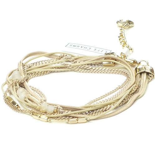 Balearic Wrap Bracelet in Latte/Gold