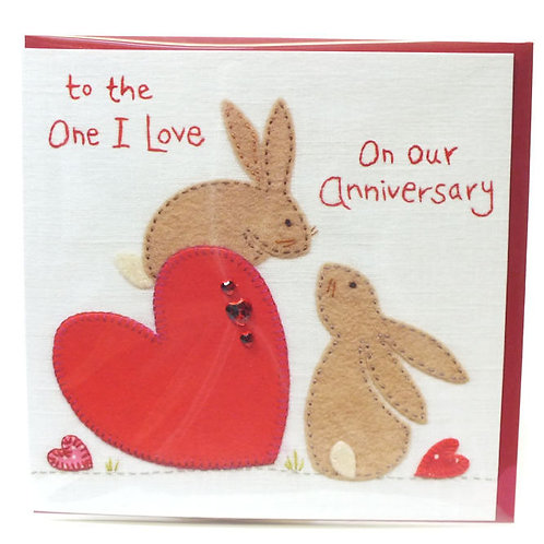 To the One I Love on our Anniversary - Card