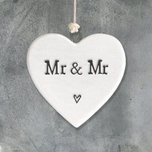 Porcelain heart-Mr & Mr