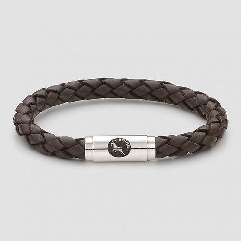 Rope Bracelet - Brown Middy Leather - Middy Magnetic Catch