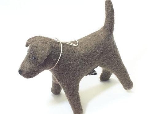 Chocolate Labrador Felt Toy
