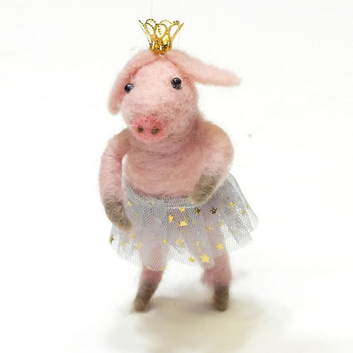 Alan the Pink Ballerina Pig Hanging Decoration