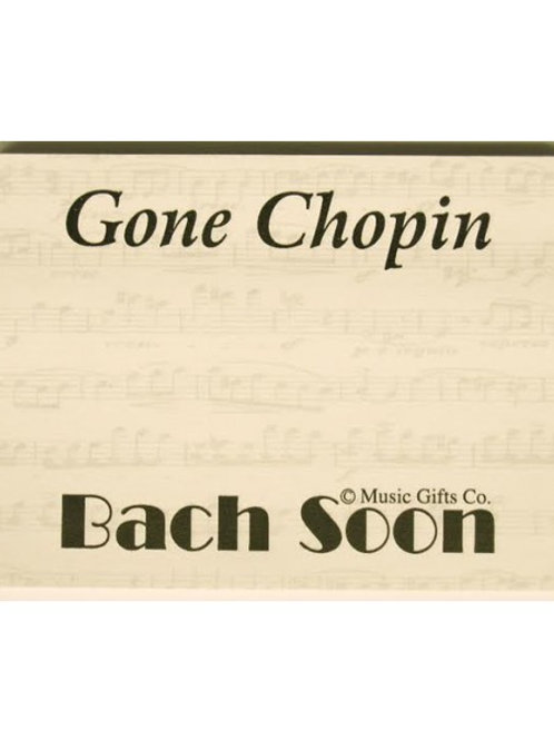 Gone Chopin Sticky Notes Pack Of 10