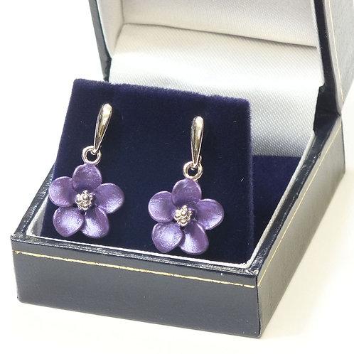 Lilac Flower Drop Earrings