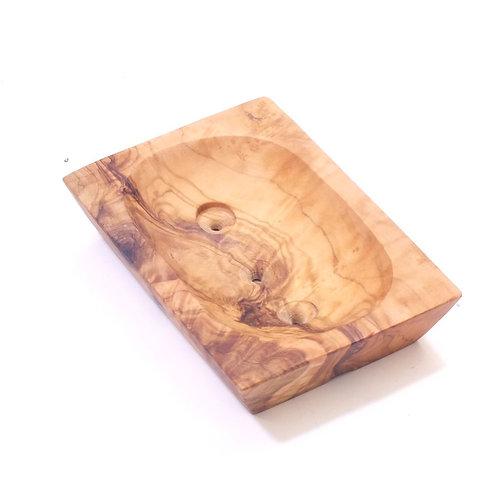 Olive Wood Soap Dishes Square/Ridges