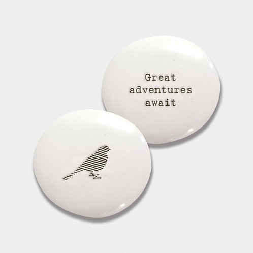 Porcelain Pebble-Bird/Great Adventures