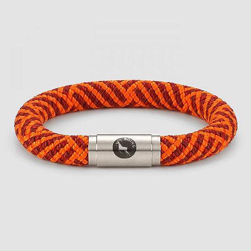Rope Bracelet - Inca Orange - Chunky Magnetic Catch