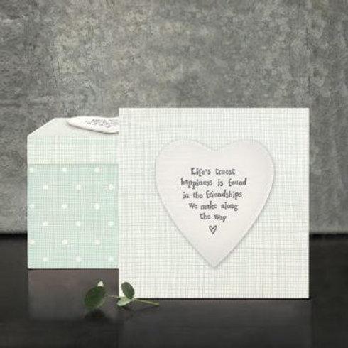 Sq heart wood box-Lifes truest happiness