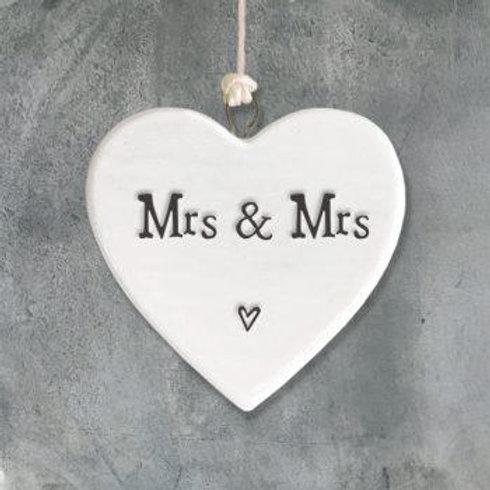 Porcelain Heart-Mrs & Mrs