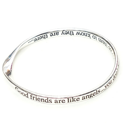 Good friends are like angels... -  Bangle