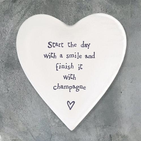 Porcelain coaster-Start the day
