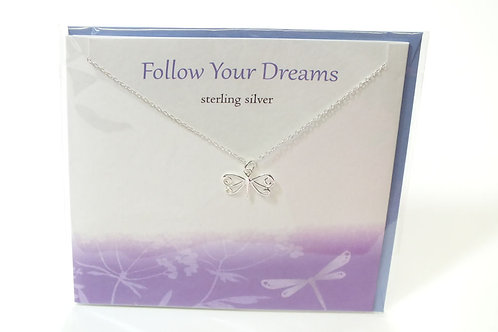 Follow Your Dreams Card With Necklace