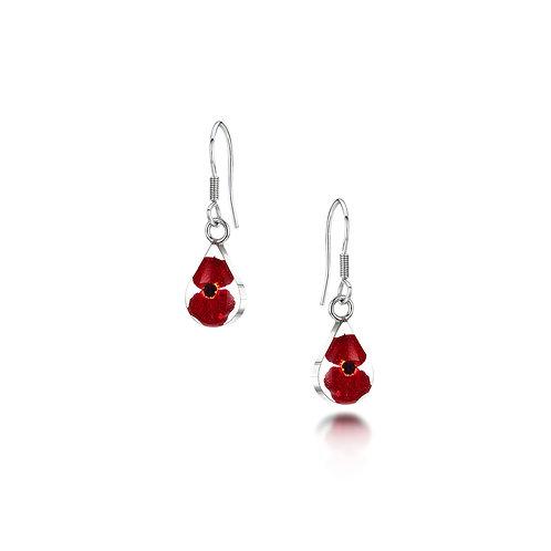 Silver Earrings - Poppy - Teardrop - extra small