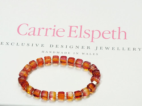 Apricot Geo Gems Bracelet