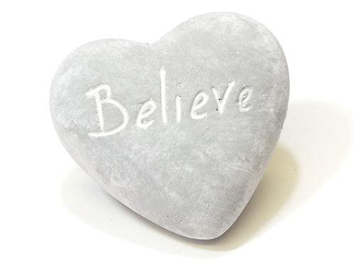 Stone Effect Sentiment Heart Ornament.