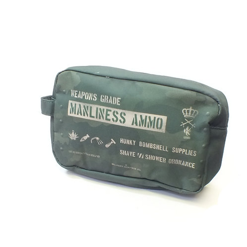 Military Heritage Manliness Ammo Canvas Wash Bag