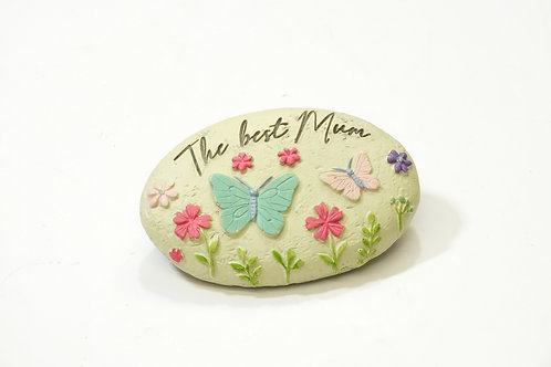 Butterfly and Flowers Pebble