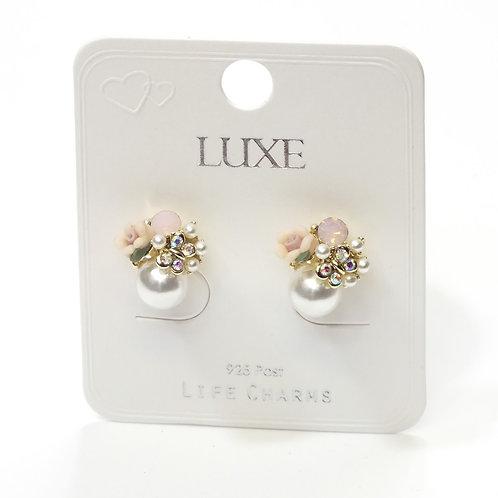 Pink Bouquet Burst Stud Earrings