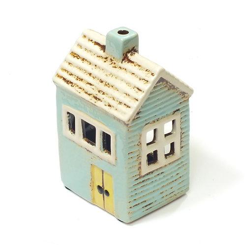 Blue House Tea Light Holder
