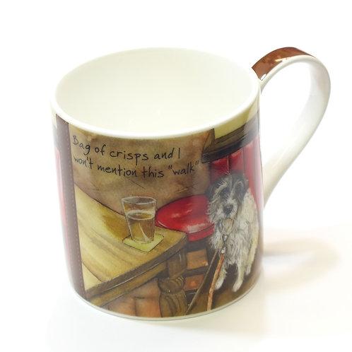 Mug And Box-Pack Of Crisps