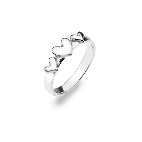 Sterling silver Ring - Hearts
