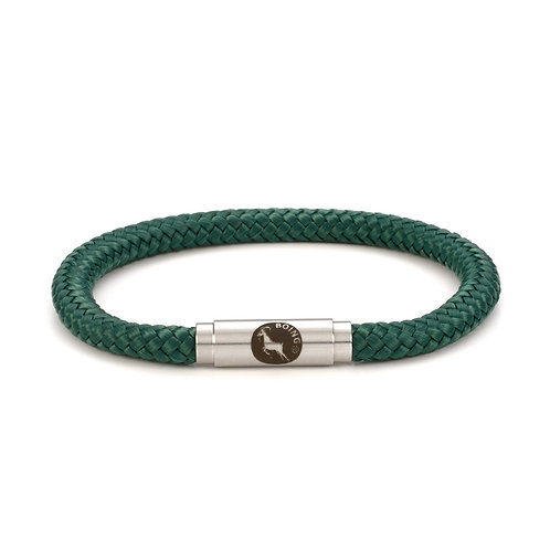 Rope Bracelet - Sea Green - Skinny with Magnetic Catch