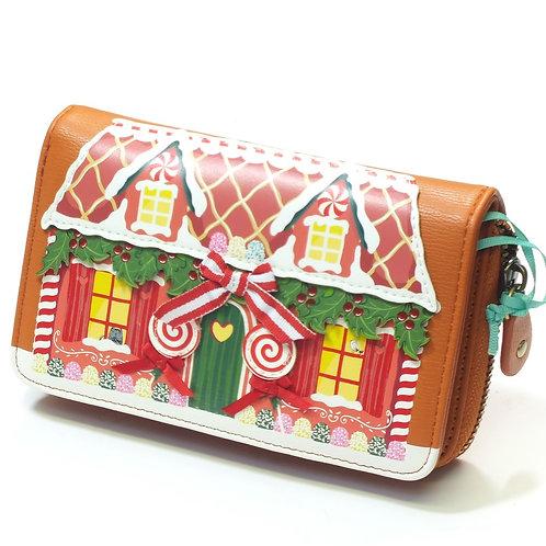 Gingerbread Ziparound Wallet