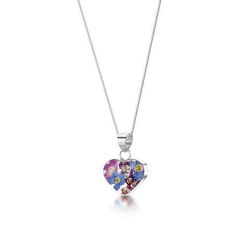 Sterling Silver Pendant - Purple Haze - Small Heart