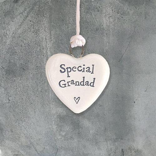 Tiny Porcelain Heart-Grandad