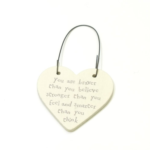 Little Heart Sign-You are Braver,Stronger