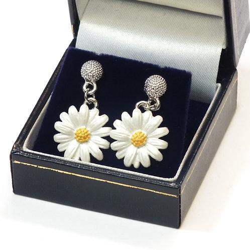 Daisy Drop Pierced Earrings