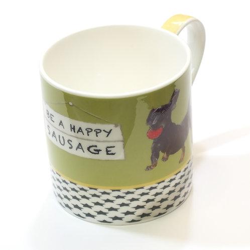 Mug & Box 'Happy Sausage'
