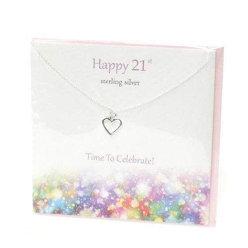 Happy 21st  pendant