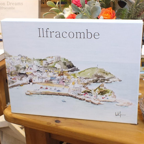 CANVAS-16 x 12 inch- Ilfracombe