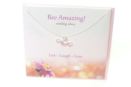 Bee Amazing Card with Necklace